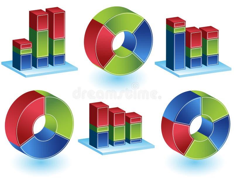 Chevron - Bar Chart Set vector illustration