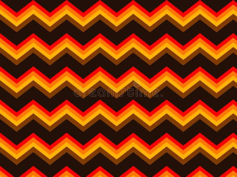 Chevron Bruin Oranje Naadloos Patroon Als achtergrond stock illustratie
