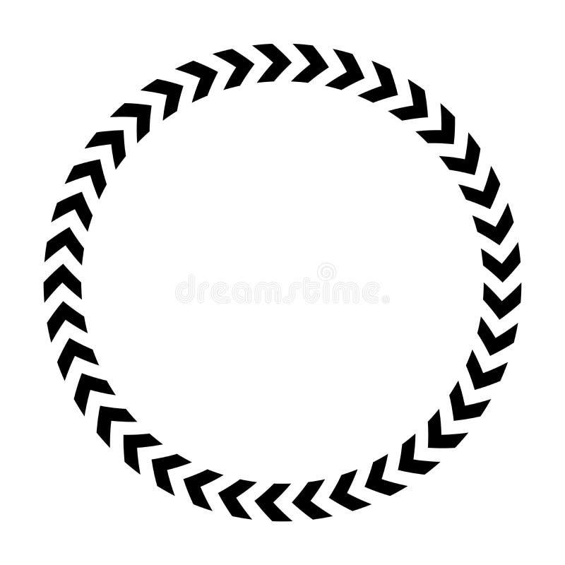 Chevron circle icon. Simple flat vector illustration royalty free illustration