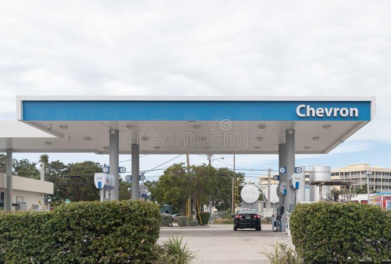 Chevron Corporation est une société multinationale américaine d'énergie occupée dans chaque aspect de pétrole, de gaz naturel, et photo libre de droits