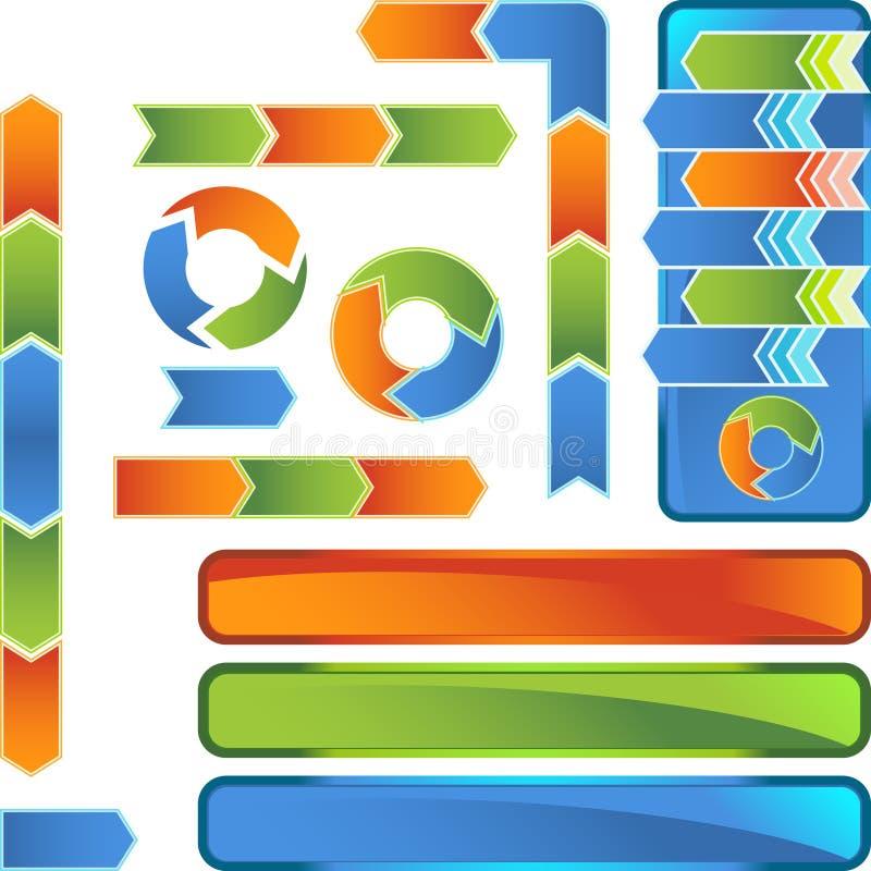 Chevron Diagram Icon Set Stock Vector  Illustration Of