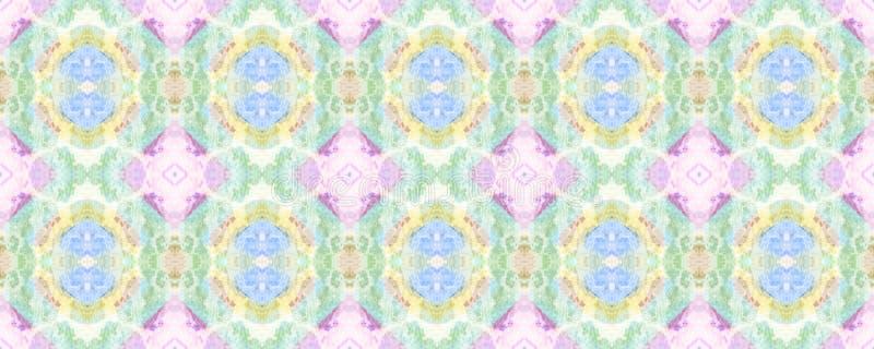 African Seamless Pattern. Chevron Folk Texture. Watercolor Horizontal Vibrant Design. Africa Geometric Swimwear Pattern. Ethnic Symmetric Triangles Rapport royalty free illustration