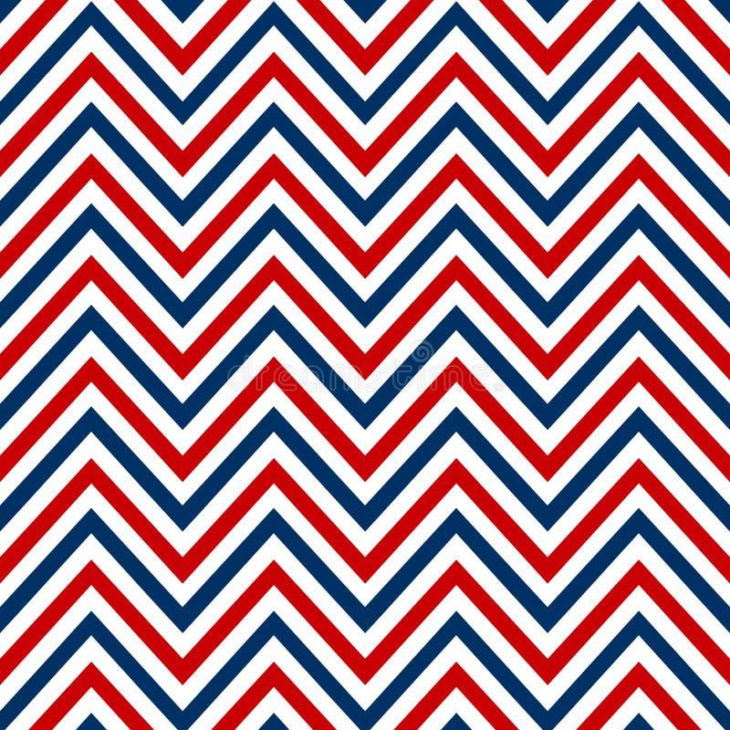 Chevron marine white red blue seamless pattern vector.  vector illustration
