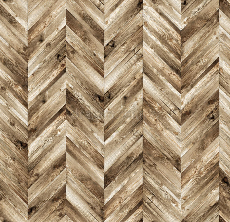 Chevron natural parquet seamless floor texture. Background royalty free stock images