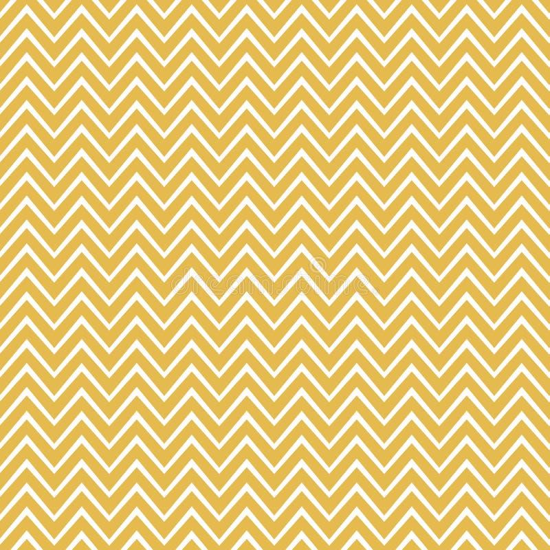 Chevron-patroon in geel en wit. Vun zigzagvector geometrische naadloze herhalingsontwerpen stock illustratie