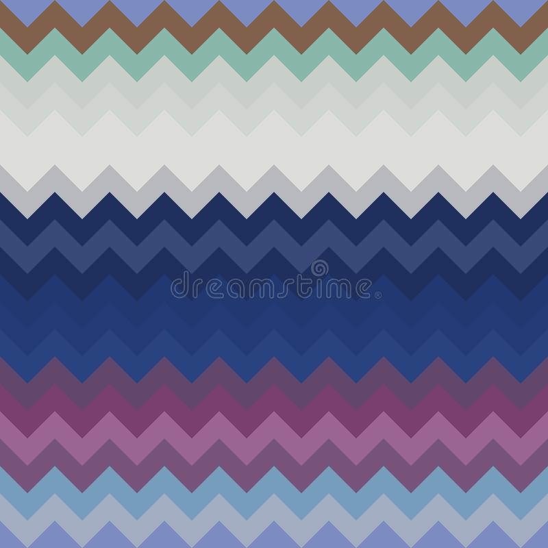Chevron pattern background zigzag geometric, wallpaper fabric royalty free illustration