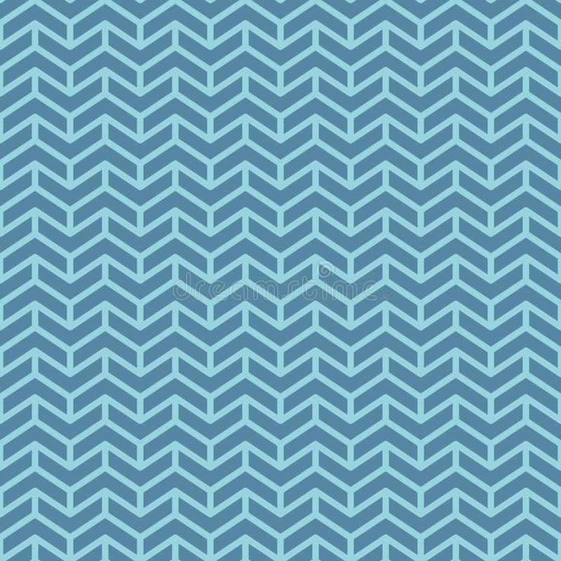 Chevron pattern. Blue geometric seamless patterns for web design. Tileable vector background royalty free illustration