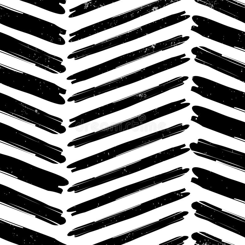 Chevron pattern hand drawn stock image