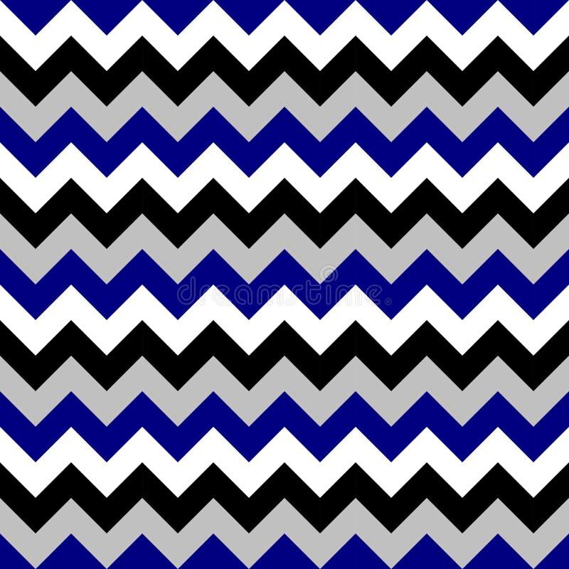 Chevron pattern seamless vector arrows geometric design colorful black white grey naval blue royalty free illustration