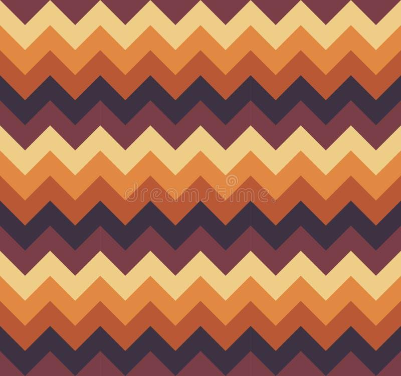 Chevron pattern seamless vector arrows geometric design colorful light and dark brown beige orange vector illustration