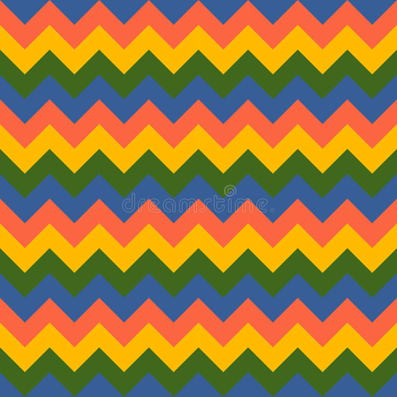 Chevron pattern seamless vector arrows geometric design colorful yellow pink green blue royalty free illustration
