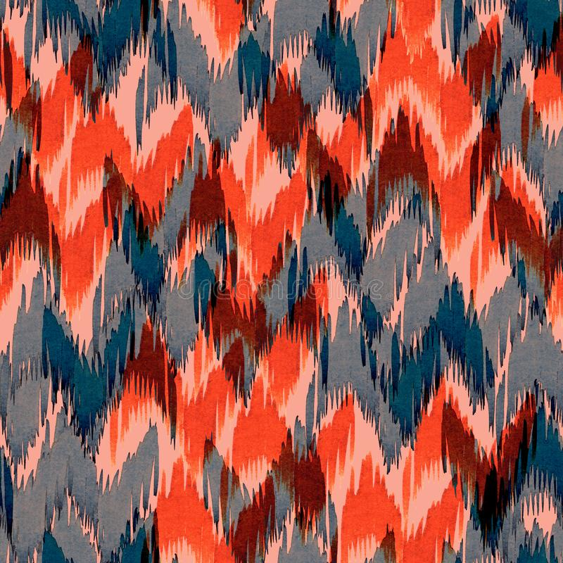 Chevron pattern seamless Zig Zag - ikat allover background royalty free illustration