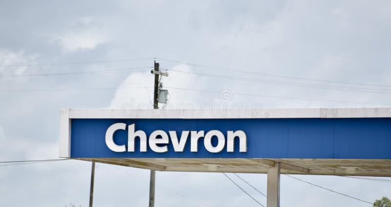 Chevron Petroleum Gasoline Company royalty-vrije stock foto's