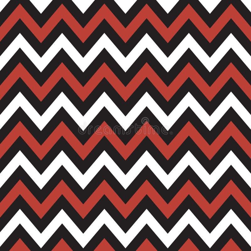 Chevron rouge et noir et blanc illustration de vecteur