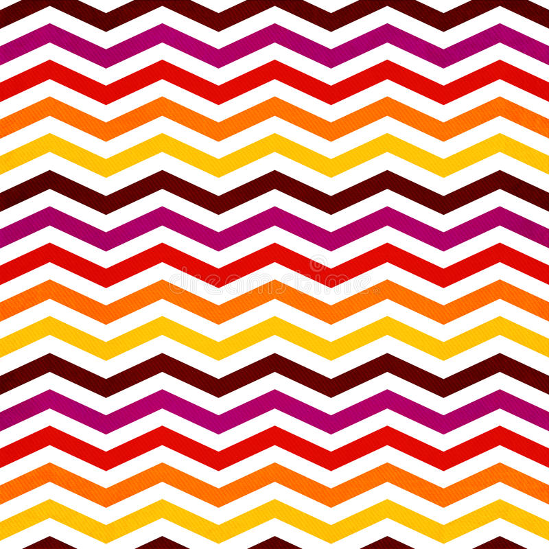 Chevron seamless background with zig zag red, yellow, pink and o stock illustration