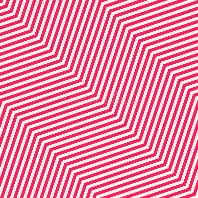 Chevron seamless pattern. Pink and white texture with thin diagonal zigzag lines vector illustration