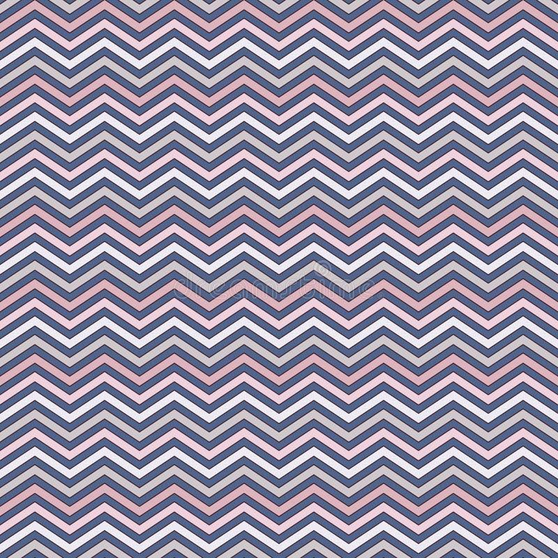 Chevron streift Hintergrund Nahtloses Muster mit klassischer geometrischer Verzierung Horizontale Linien Tapete des Zickzacks vektor abbildung