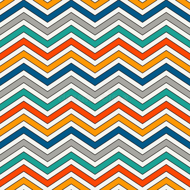 Download Chevron Stripes Background Bright Seamless Pattern With Classic Geometric Ornament Zigzag Horizontal Lines