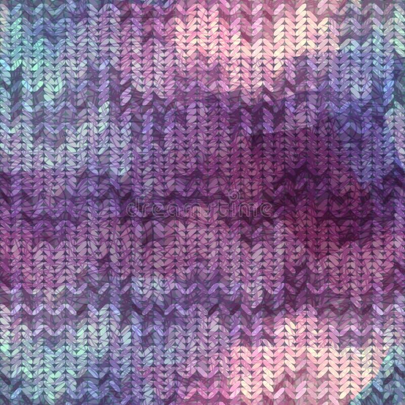 Chevron tricoté avec le modèle de griffonnages illustration stock