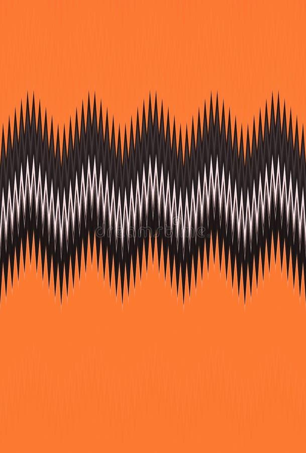 Chevron-Zickzackwelle rot, orange Hintergrund der Flammenfeuermuster-abstrakten Kunst, Karotte, Koralle, Pfirsich, Lachs, Tangeri stock abbildung