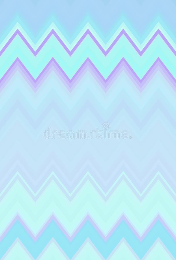 Chevron zigzag pattern abstract art background trends. Holographic iridescent surface wrinkled foil. Hologram multiple colors. royalty free illustration