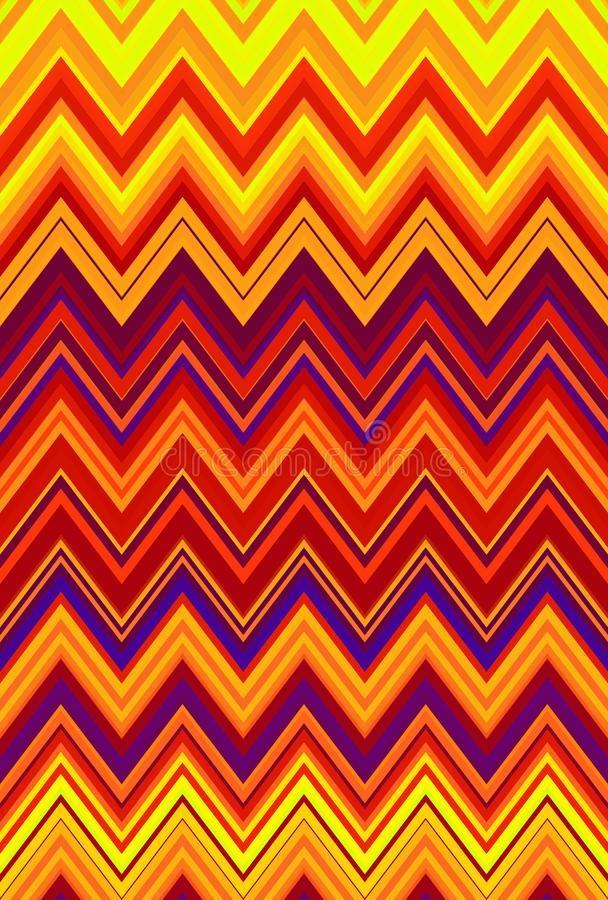 Chevron zigzag red, orange flame fire pattern abstract art background, bittersweet, cantaloupe, carrot, coral, peach, salmon, tang. Chevron zigzag red, orange vector illustration