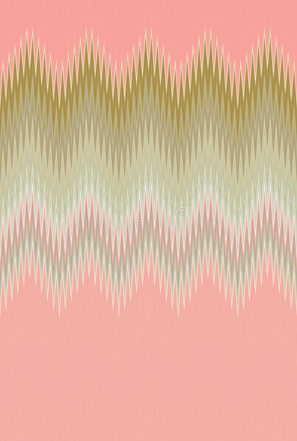 Chevron zigzag wave pink pattern abstract art background, coral, fuchsia, rose, salmon, roseate, color trends royalty free stock images