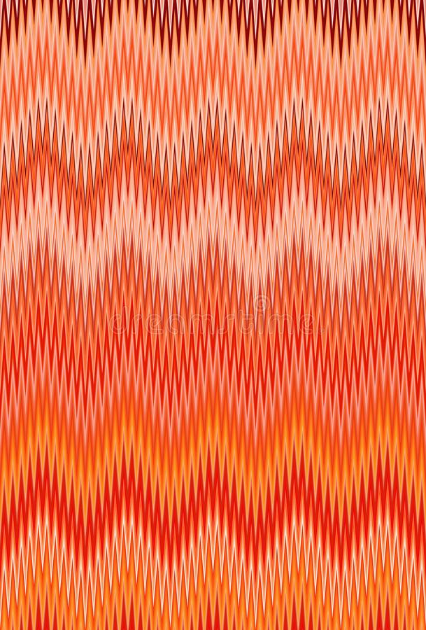 Chevron zigzag wave red, orange flame fire pattern abstract art background, carrot, coral, peach, salmon, tangerine, red-yellow, c royalty free illustration