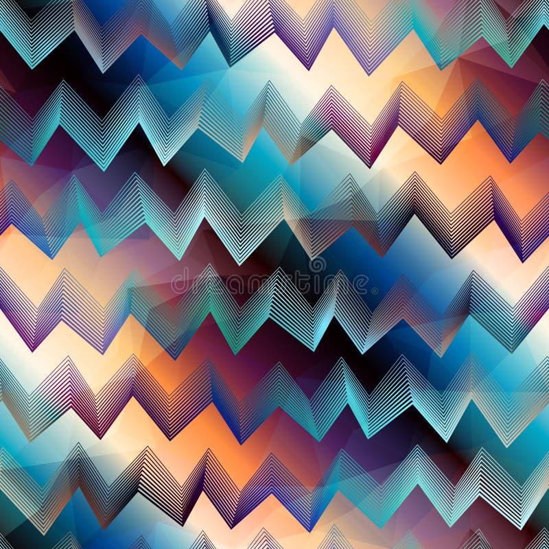 Chevronpatroon op gradiëntachtergrond vector illustratie