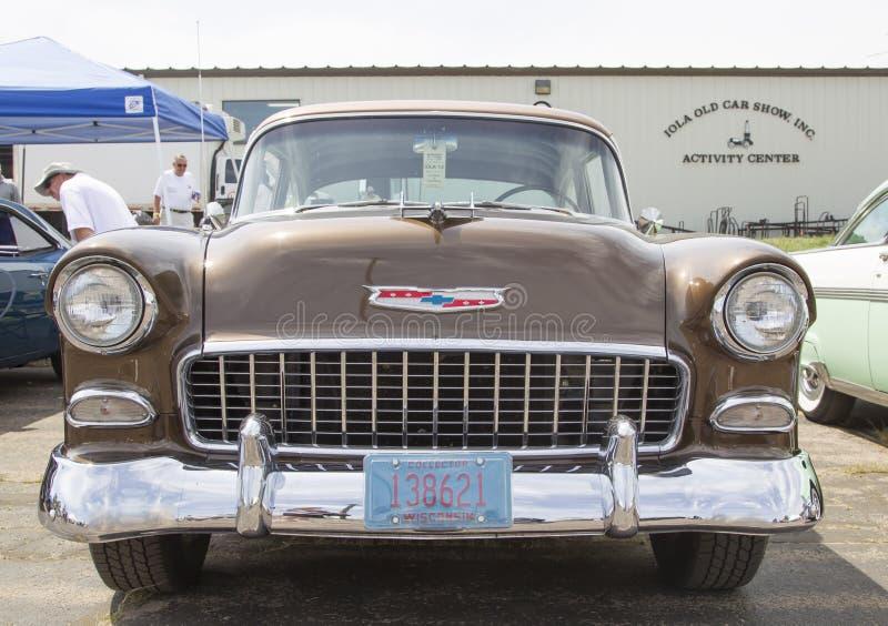 Chevy Bel Air Copper Front View 1955 photos libres de droits