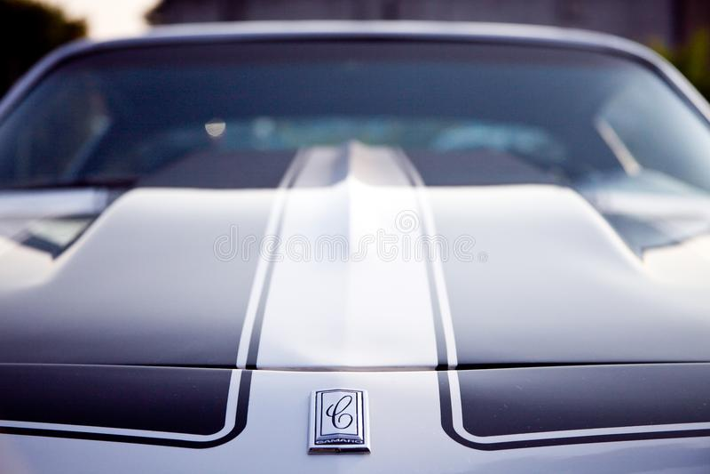 Chevy Camaro avec le capot Hood Vintage Look Photograph photo stock