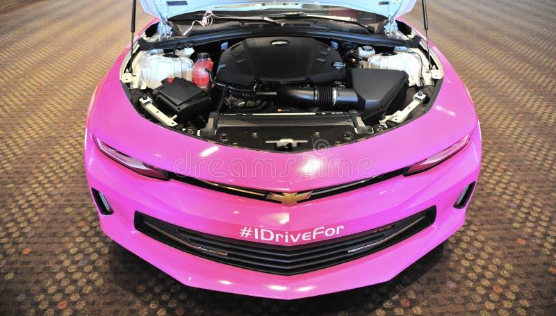 Chevy Camaro Engine compartment stock image
