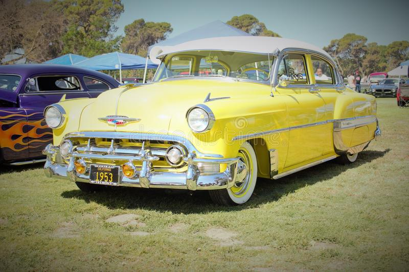 54 chevy car royalty free stock image