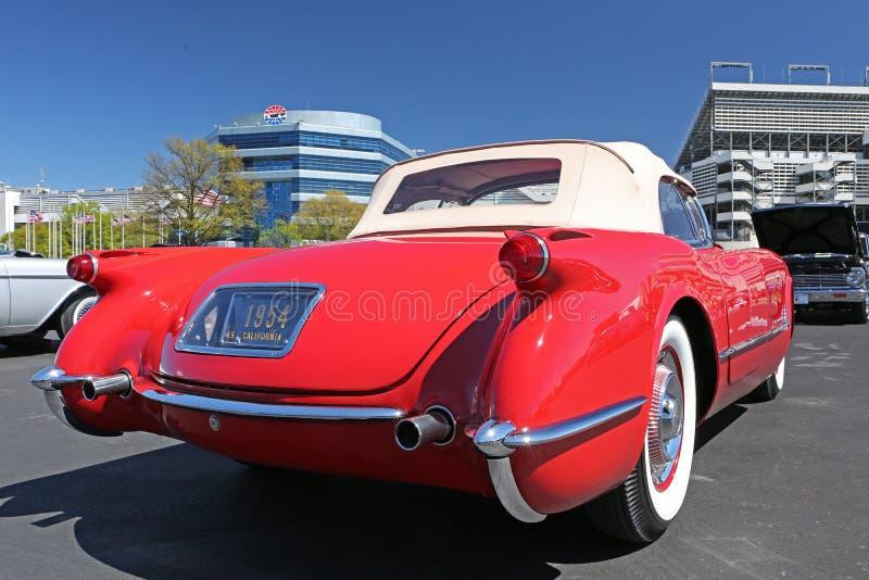 Chevy Corvette 1954 royaltyfri bild
