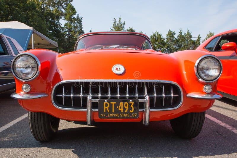 1957 chevy corvette royaltyfri fotografi