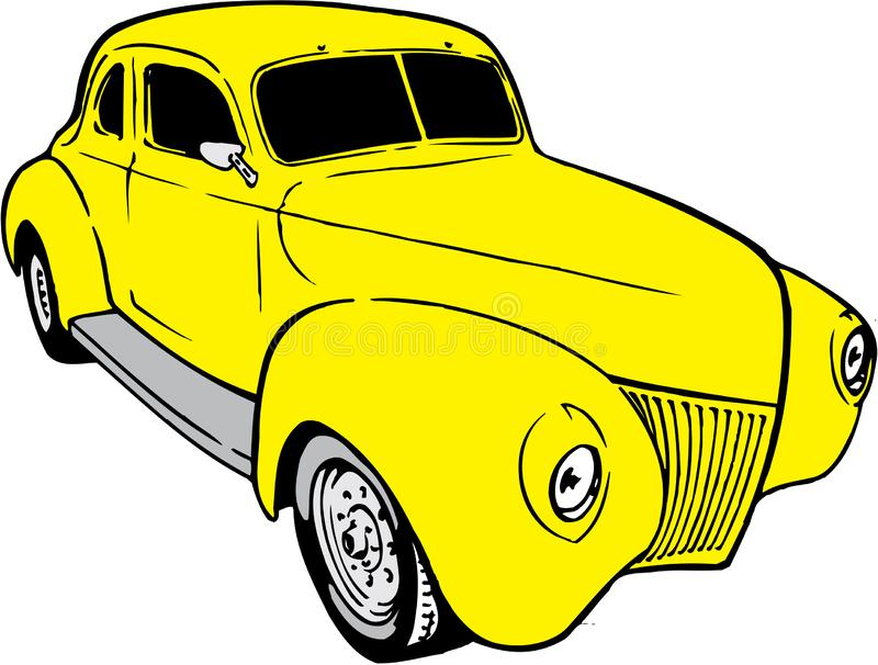 1939 Chevy Coupe Illustration vector illustratie