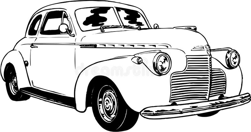 Chevy Coupe Illustration vector illustratie