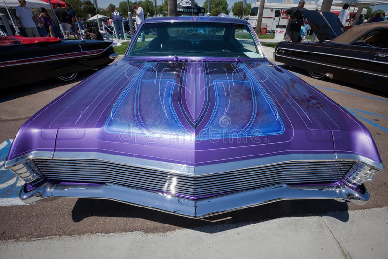 1967 Chevy Impala Custom Pinstripping royalty free stock photography