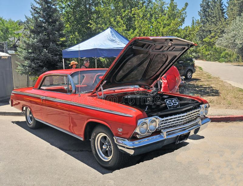 Chevy Impala With 409 Motor stock afbeelding