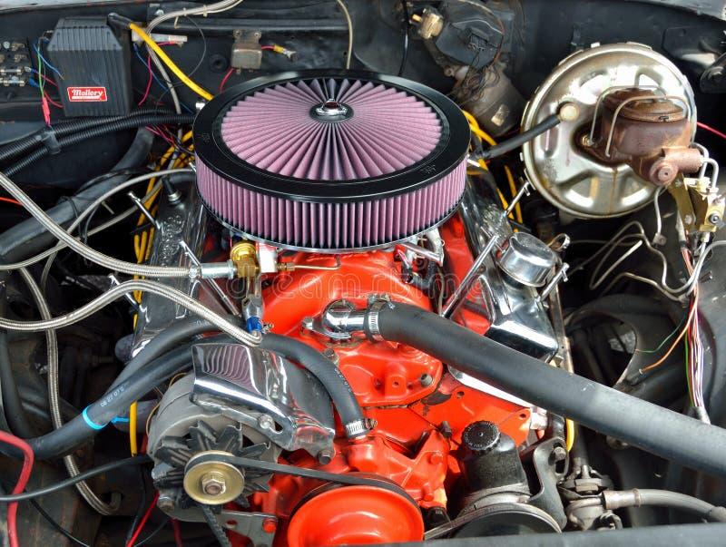 chevy klassisk motor royaltyfri bild