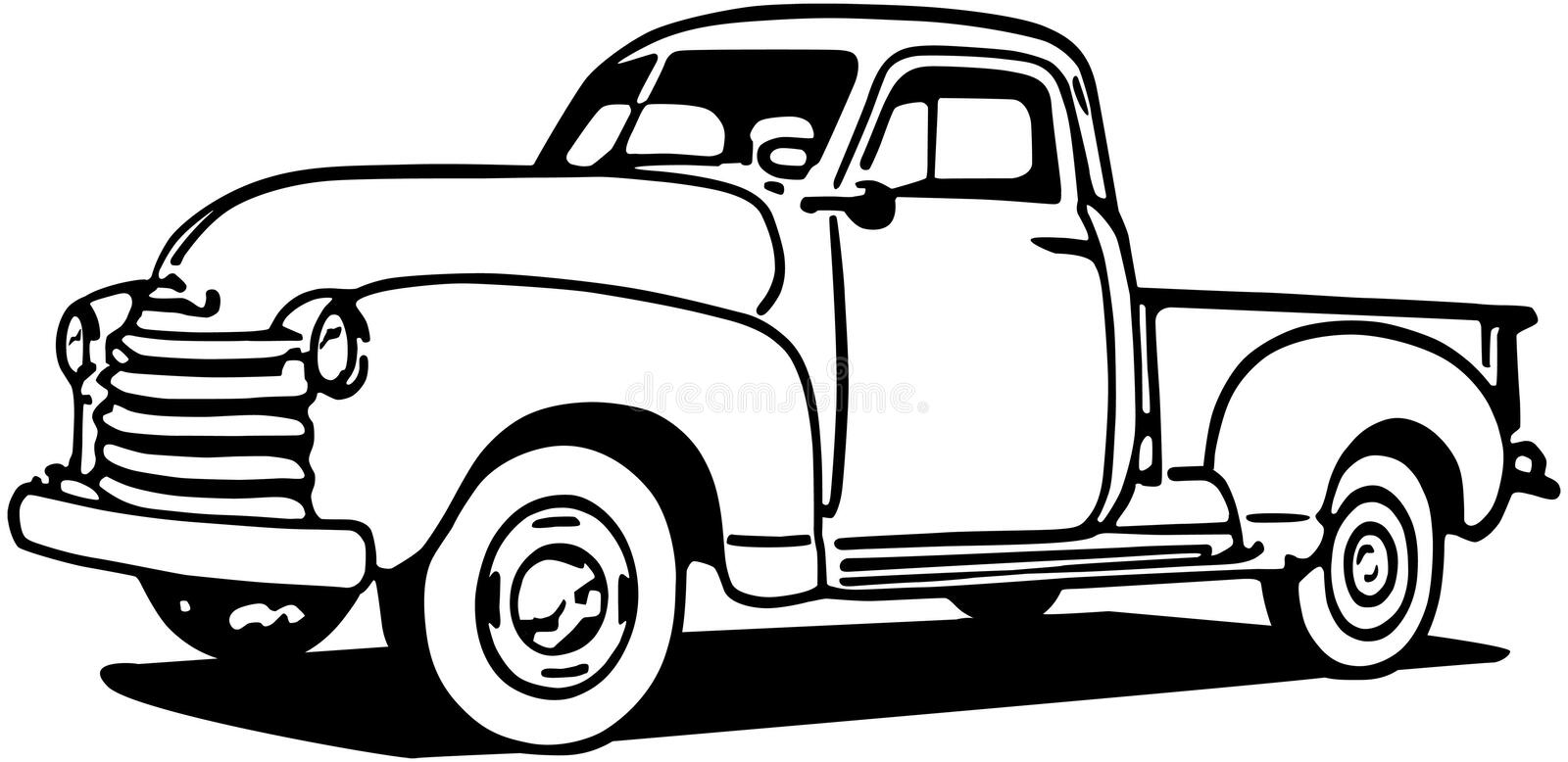 Chevy Pickup Truck illustration stock