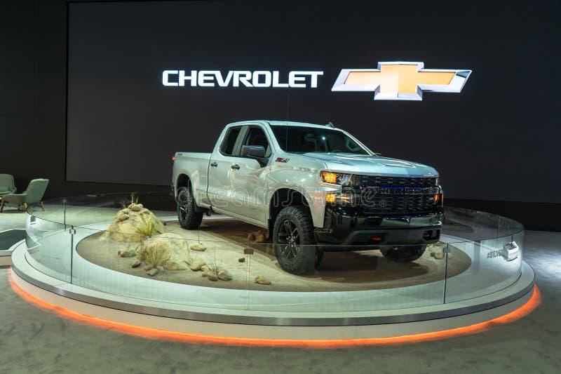 2019 Chevy Silverado Z71 śladu szef zdjęcia stock