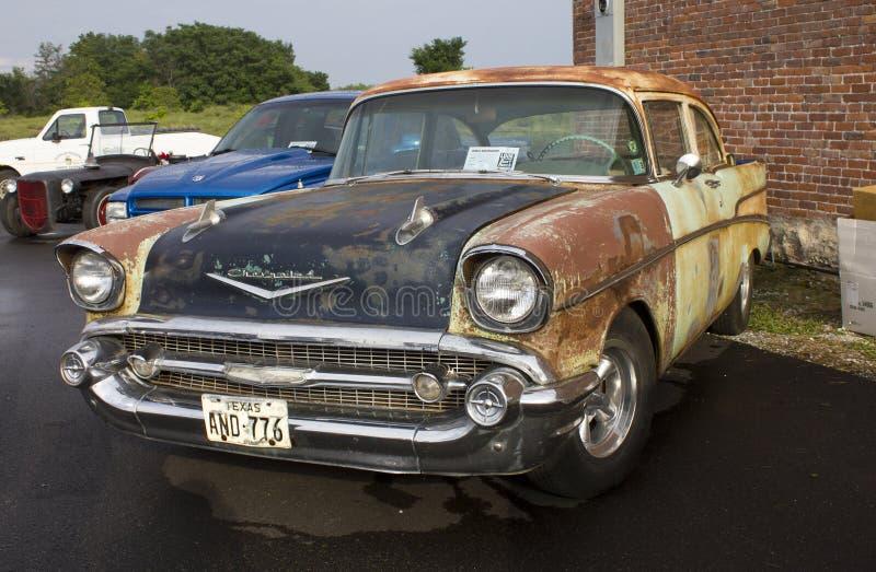 Chevy Two Door Sedan 1957 arkivfoto