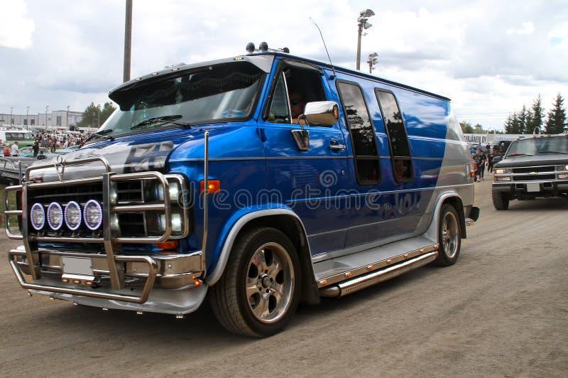 Chevy Van azul foto de archivo