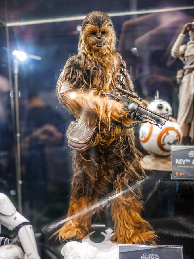 Chewbacca in ani-Com & Spelen Hong Kong royalty-vrije stock afbeeldingen