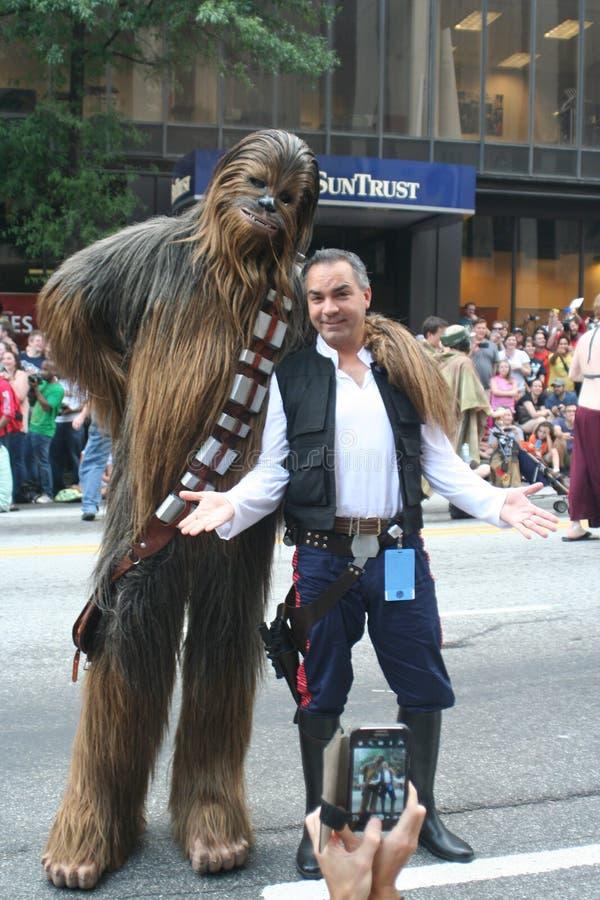 Chewbacca & Han Solo stock foto