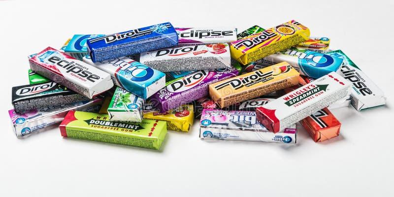 Chewing-gum de diverse marque photographie stock