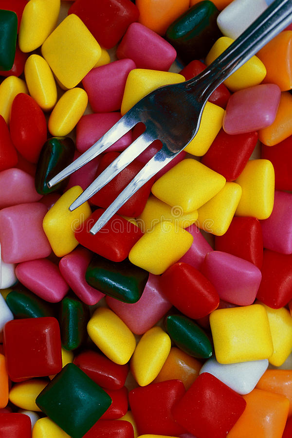 Download Chewing Gum and Fork stock image. Image of backgrounds - 29474807