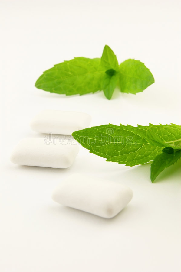 Chewing-gum with mint royalty free stock image