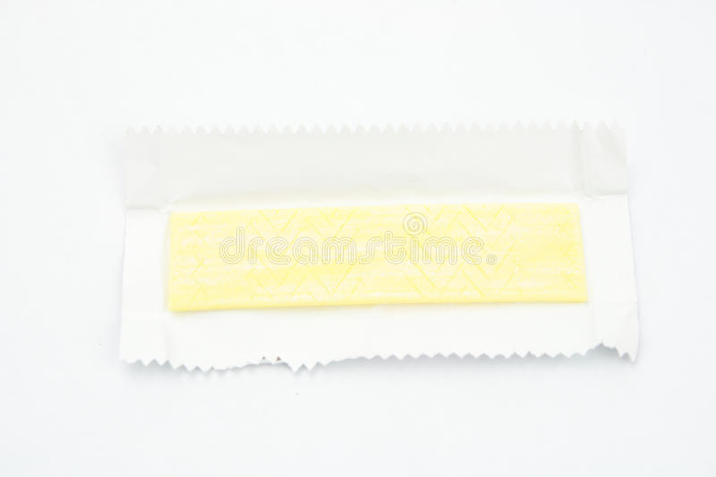Chewing gum. On white background stock photos